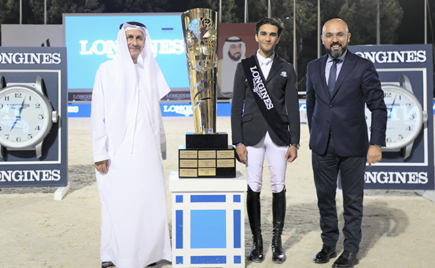 President of the UAE Showjumping Cup presented by Longines to Mouda Zeyada